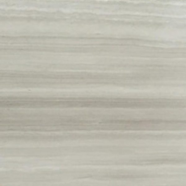 Polished White Light Wood Grain Marble Tile