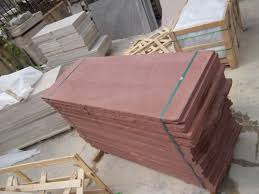 China Red Sandstone Floor Paving Tiles
