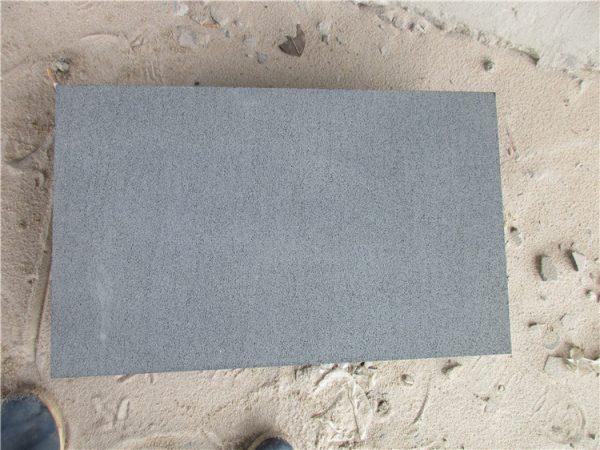 Hainan Black Basalt Stone Sandblasted Tiles