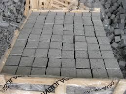 China Dark Grey G654 Granite Driveway Paving Stone