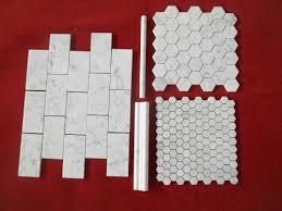 Beautiful design of carrara marble mosaic tile