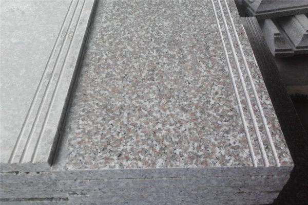 China Polished Pink Sardo G635 Anti-Slip Stairs