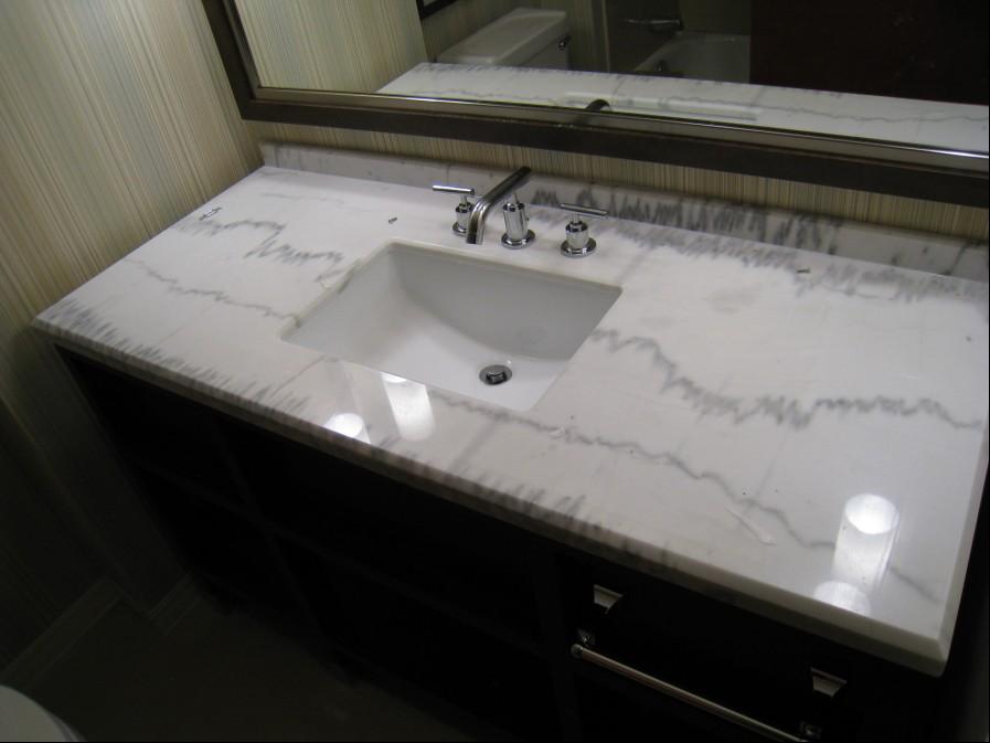 Kashimir White Grantite Countertop and Sink-ShiyueStone