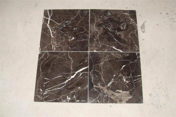 China Hubei Dark Emperador Marble Floor Tiles